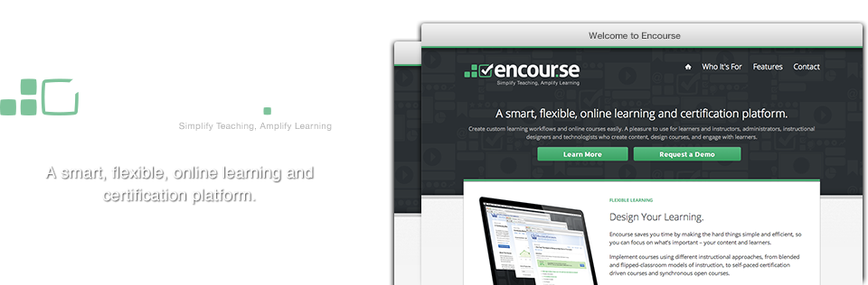 Encourse: A smart, flexible, online learning and certification platform.